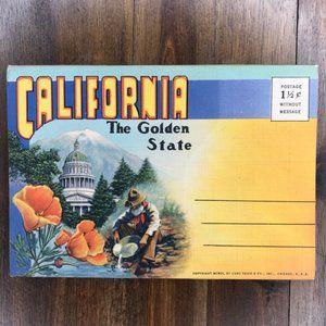 Vintage California Linen Souvenir Postcard Book